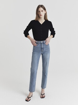 ESSENTIAL STRAIGHT JEANS BLUE DENIM_UDPA1E214B1