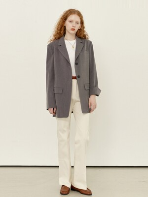 HALLIM Oversized fit blazer (Light gray)