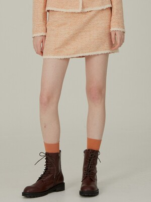 rana tweed skirts orange