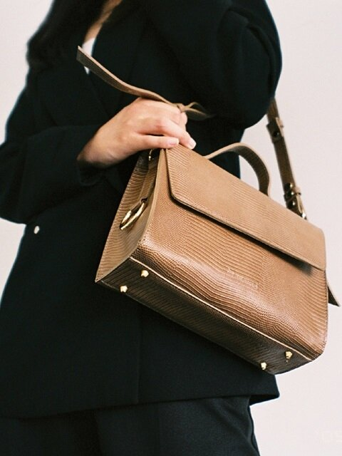 Oblong Bag-Beige