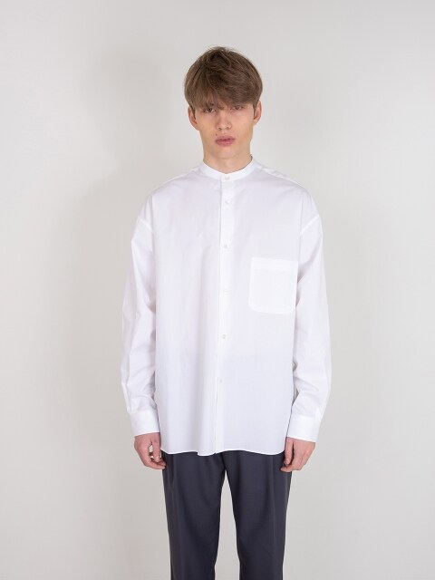 BALLOON SLEEVE TUNIC SHIRTS_WHITE
