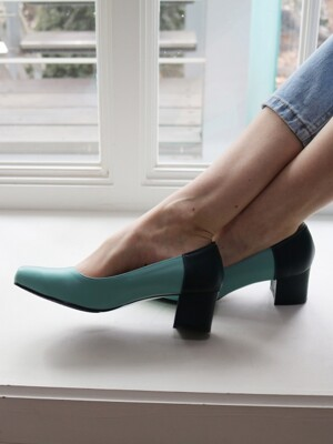 T007 pumps mint-deep green (5cm)