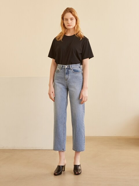 19SS 003 SEMI WIDE JEAN BLUE