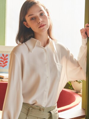 AE OVERSIZED SHIRT(WHITE)