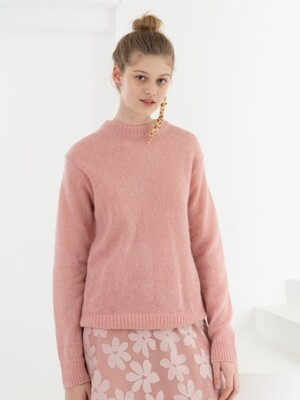 MOHAIR KNIT . PINK
