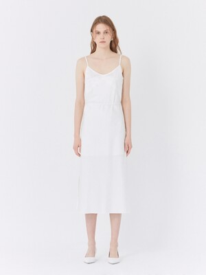 19SS MIDI SLIP DRESS WHITE