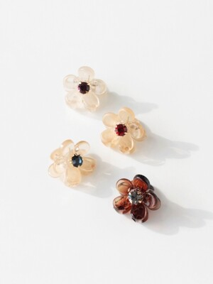 A little flower hairpin_beige