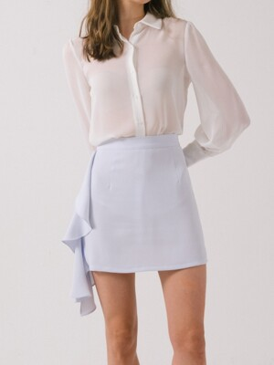 side draping mini skirt