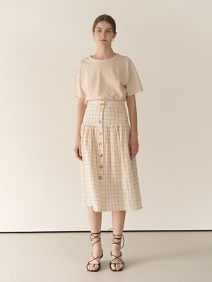 19RESORT CHECK ROSIE SKIRT_2COLOR