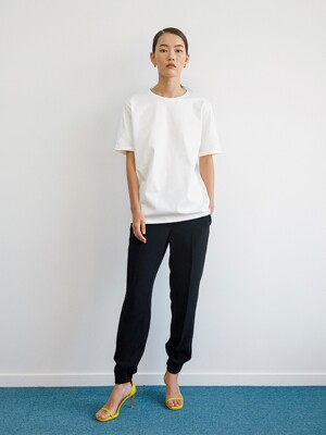 Back Point Basic T-shirts + Drawstring Jog Pants