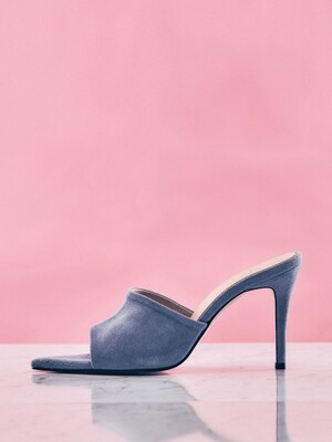 Open-Toe Sandals (BlueGray Suede)