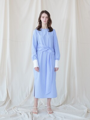 Stripe Marine Dress_BLUE