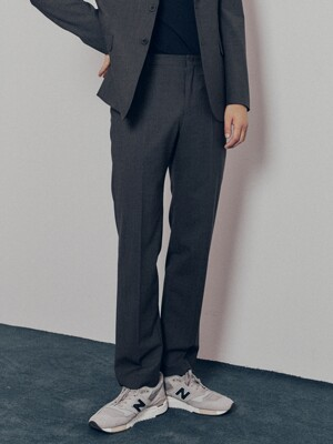 Slim-Straight Italian Stretch-Wool Suit Trousers