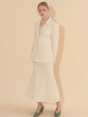Classic Tweed Jacket_ Ivory