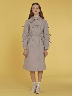 Ribbon Trench Coat _ Lavender