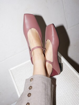 Melody Mary Jane Babouche / YY9A-F11 Rose pink+Burgundy