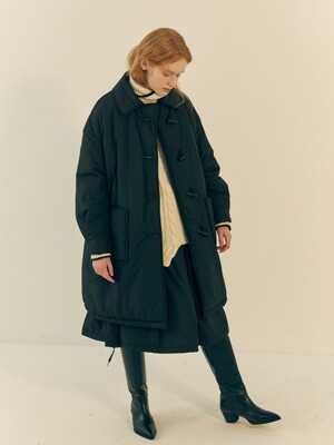 LAVE DE DUFFLE COAT - BLACK QUILTING