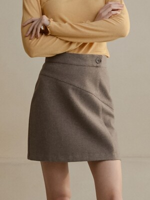 comos'280 wool stitch skirt (brown)