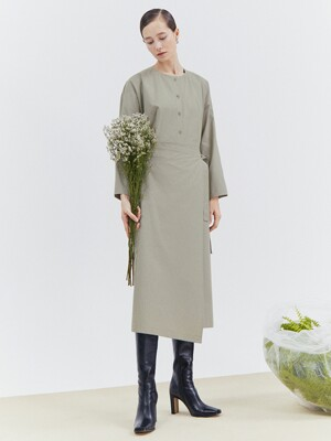 [Classy Cotton] Cocoon Sleeve Wrap Dress