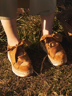 CHUNKY ESPADRILLE SNEAKERS_MUSTARD