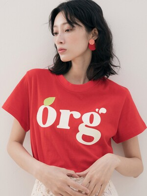 ORG PRINTING T-SHIRTS RED
