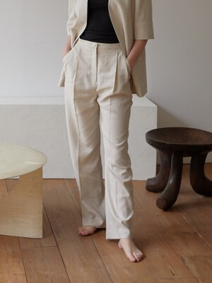 WHERE LINEN PANTS (OATMEAL)