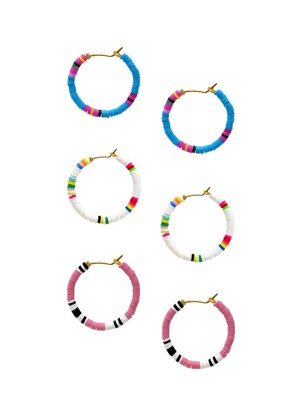 Beach Sunset Hoop Earrings