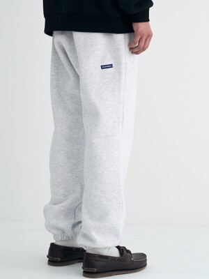 STEADY SWEATPANTS (MELANGE WHITE)
