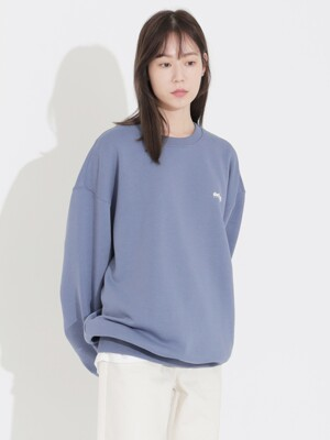 Signature Logo Crewneck Blue