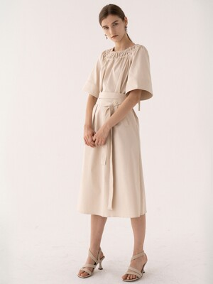 SS21 Caftan Dress Almond-milk
