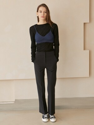 Carine Stretch A-line Pants_Black