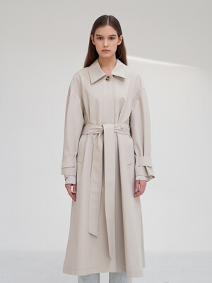 TTS SINGLE TRENCH COAT 2COLOR