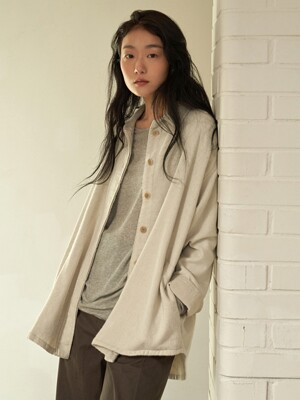 wool linen single jacket