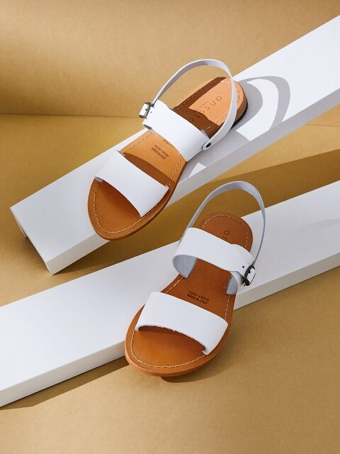 DOUBLE-STRAP SANDAL_WHITE