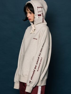 Side Point SET Hoodie (OATMEAL)