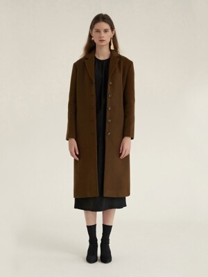 WARM DEVELOP COAT BROWN