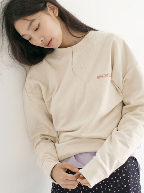 Soft Crop SweatShirts - Cream