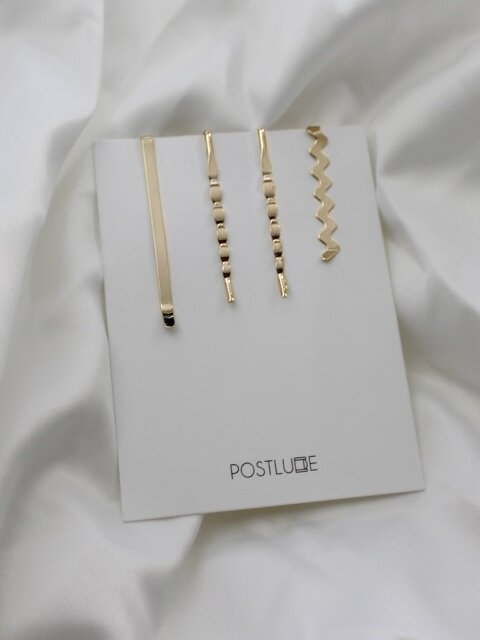 [단독][4SET] WAVE HAIR PIN SET (S)
