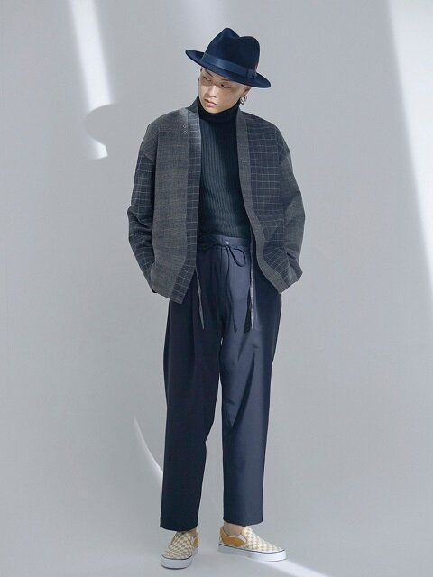 Pleated Tied Easy Bonded Pants