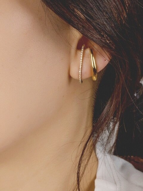 [SILVER 925] SIMPLE VOLUME CUFF EARRING