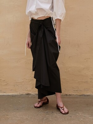 Skirt A-Line Atypical Black
