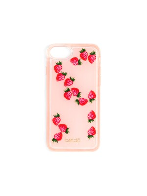 FLOATING ICONS IPHONE CASE - STRAWBERRY_[fits iphone 6, 7, 8] 아이폰케이스