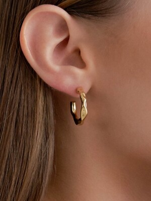 Wave Bold Earring (2color)