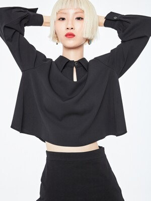 SIMPLE CROP SHIRT-BK