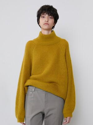 KID MOHAIR BALLOON PULL OVER [OLIVE]
