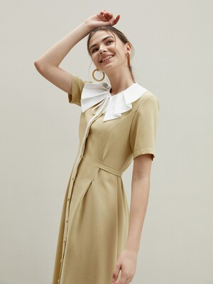 basic collar set dress LM
