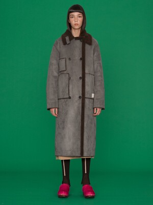 [단독]Blanche Reversible Long Shearing Coat_Dark Brown