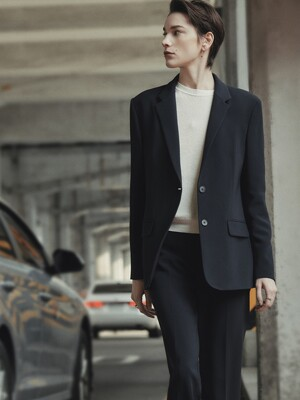 [Drama Signature] Two-button Tailored Blazer_NAVY