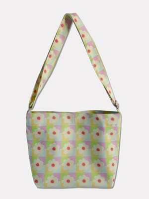 spring flower cross bag