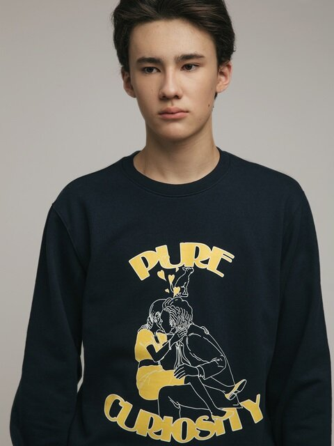 PURE CURIOSITY CREWNECK (NAVY)